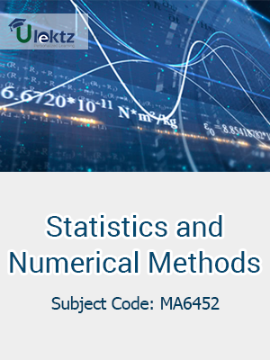 Statistics And Numerical Methods -Important questions  (MA6452)